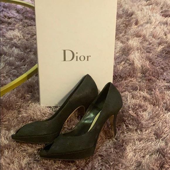 Dior peep toe pumps